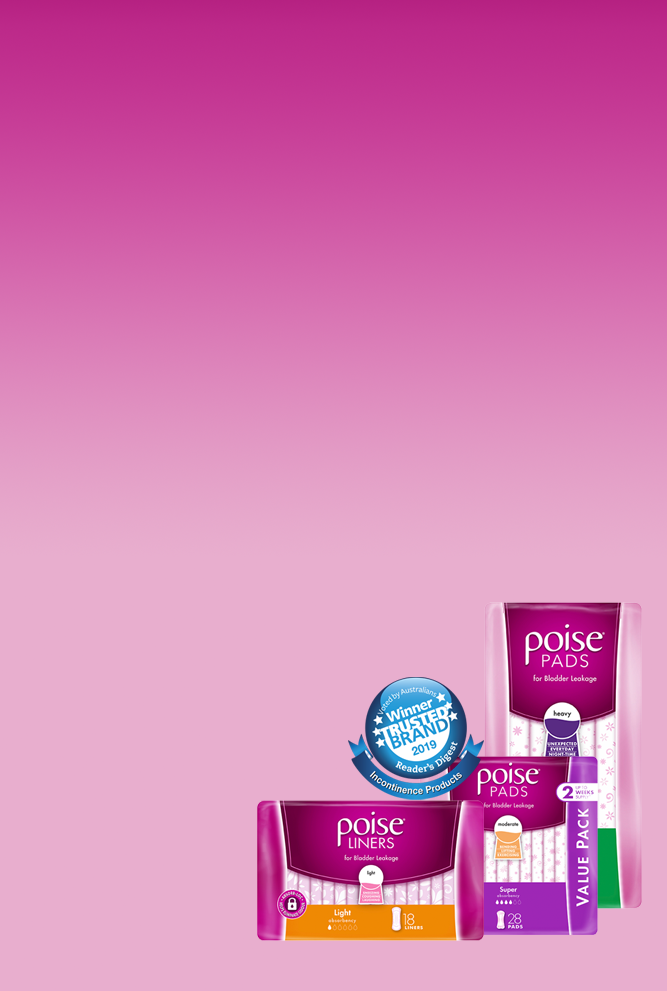 Incontinence Products - LBL Pads - Poise